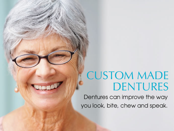 custom made dentures
