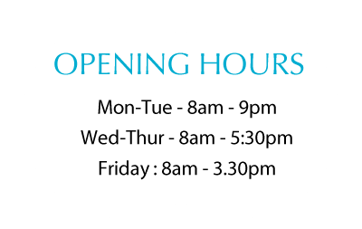 opening hours at North street dentists